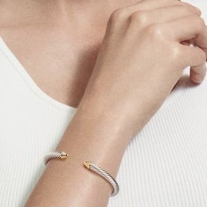 David Yurman | Cable Classic Bracelet with Gold